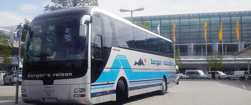 Flughafentransfers mit berger's reisen Omnibus & Touristik oHG - Ihrem Busunternehmen im Münchner Osten