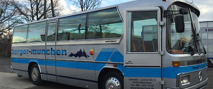 Hochzeitsfahrten und Familienfeiern im Oldtimer-Bus mit berger's reisen Omnibus & Touristik oHG - Ihrem Busunternehmen im Münchner Osten
