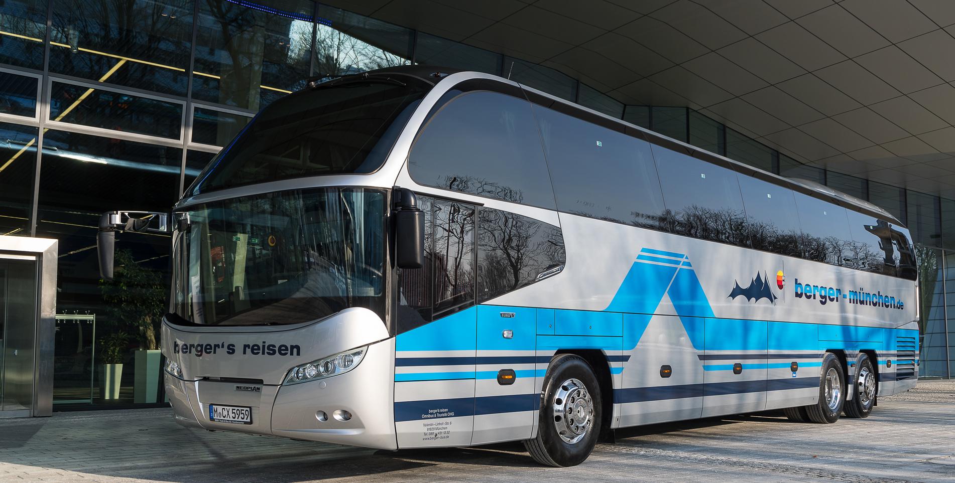 berger's reisen - Omnibus & Touristik oHG - Ihr Busunternehmen in München - Ausflüge, Events, Busanmietung, Shuttleservice und Linienverkehr
